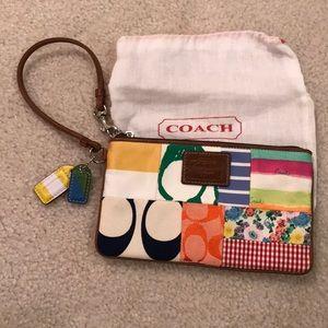 Coach Patchwork Wristlet